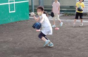 ゴロ捕り練習(3年生)
