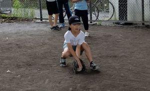 ゴロ捕り練習(5年生)